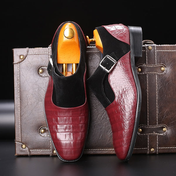 Winter Formal Wedding Patchwork Leather Men Shoes(BUY 2 TO GET 10% OFF)
