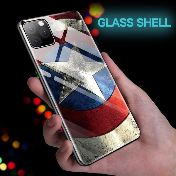 Captain America Glass Case For iPhone 11 Pro XSmax X(BUY 2 TO GET 10% OFF)