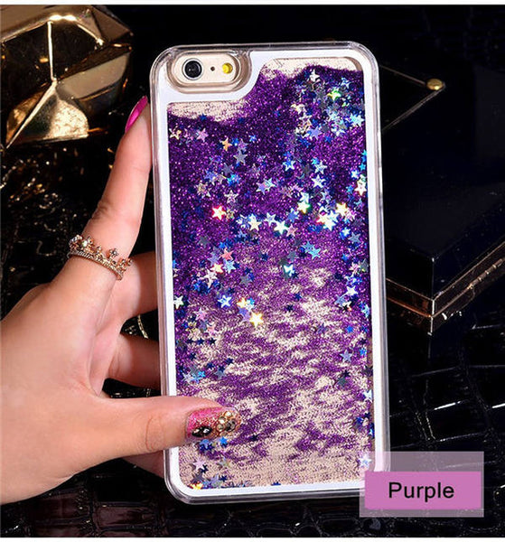 NEW Luxury Glitter Liquid Sand Quicksand Star Case for iphone 4 4S 5 5S SE 6 6S 7 8 Plus X