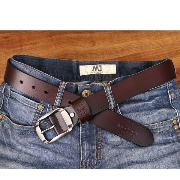 Leather Luxury Strap Male Belts For Men Jeans Casual Belt Pin Buckle