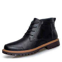 Load image into Gallery viewer, Men's Boots-Plus Size Leather Winter Ankle Boots