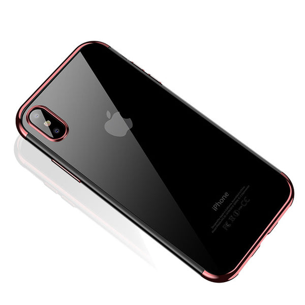 Ultra Thin Transparent Plating Shining Case for iPhone X(BUY 2PCS TO GET 15% OFF)