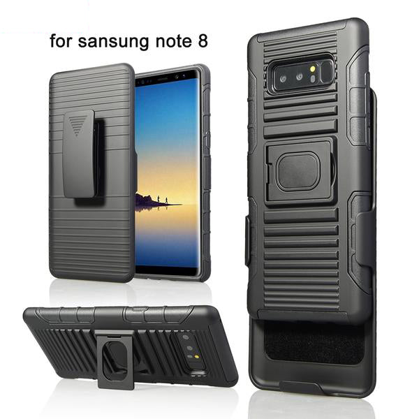 Magnetic Armor Case Finger Ring Kickstand Belt Clip Holster Cover For Note 8