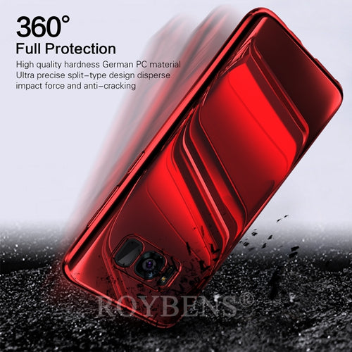 Luxury Mirror 360 Full Protection Case For Samsung S9/S8 Plus/S7 Edge + Film(BUY 2PCS TO GET 15% OFF)