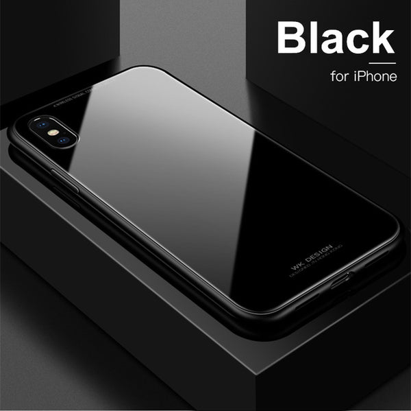 Magnet Absorption Aluminum Metal Glass Case for iPhone X/7/8 Plus(BUY 2PCS TO GET 15% OFF)