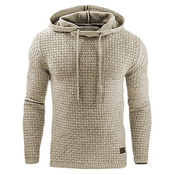 2018 Brand Male Long Sleeve Solid Color Hooded Sweatshirt