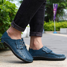 Load image into Gallery viewer, Plus Size Breathable Men Lace-up Moccasins