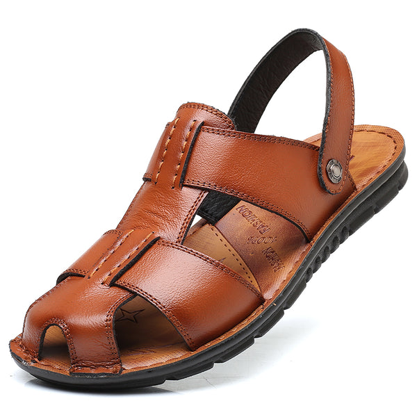 Big Size Men's Non-Slip Genuine Leather Beach Sandals(BUY 2PCS TO GET 10% OFF)