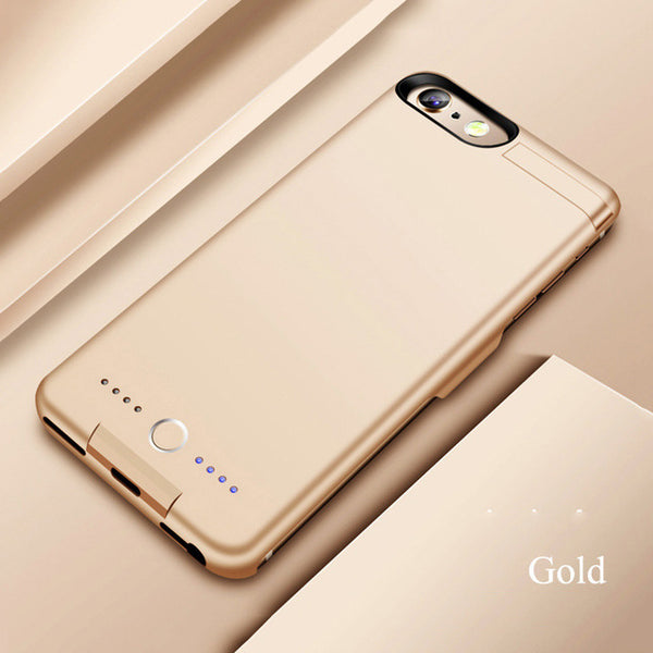 Top Quality 8000mAh Battery Charge Phone Case with holder For iphone 6 6s/7 8/7 8/plus