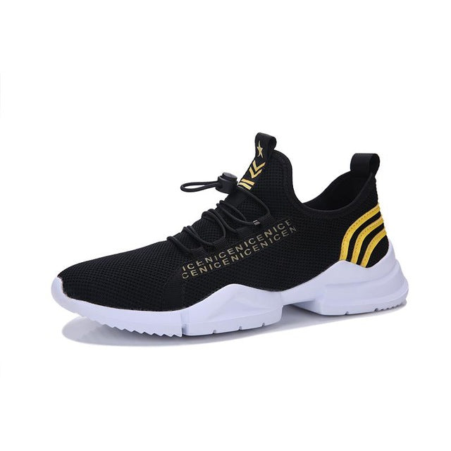 Outdoor Jogging Walking Sneakers Lace Up Athletic Shoes