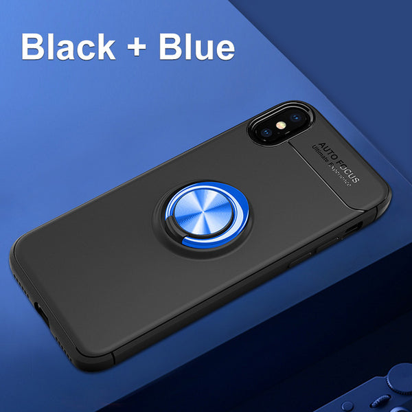 Luxury Ultra Thin Car Magnetic Holder Silicone Cover For iPhone X 8 7 10 Plus Case