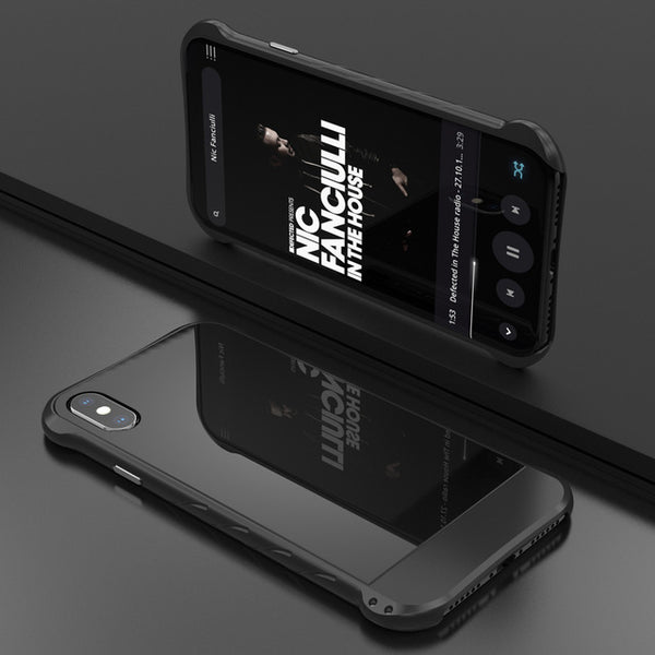 Luxury Mirror Metal Bumper Tempered Glass Case For iPhone X(BUY 2PCS TO GET 15% OFF)