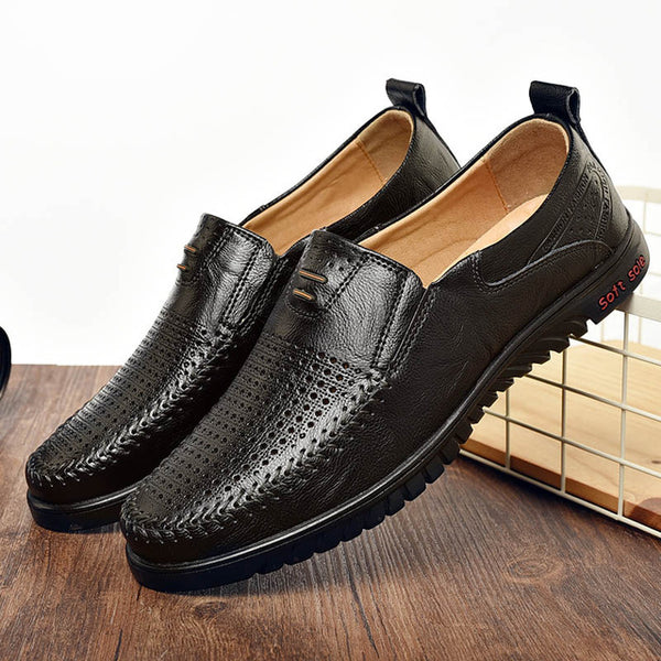 Fashion Leisure Men Slip-on Leather Shoes(BUY 2PCS TO GET 10% OFF)