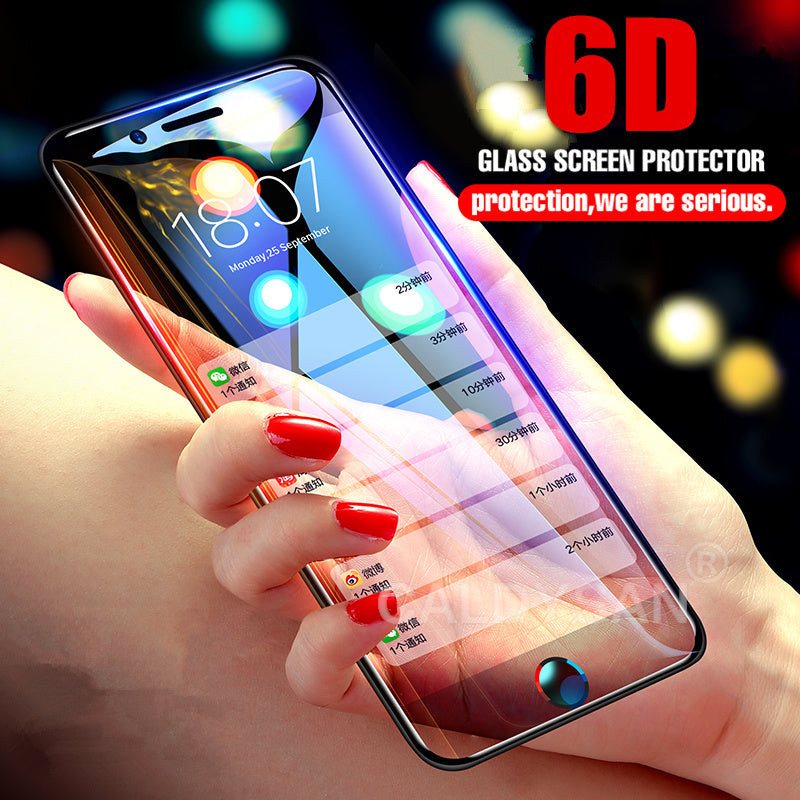 6D Curved Tempered Glass  Screen Protector For IPhone X 10 6 6s 7 8 Plus