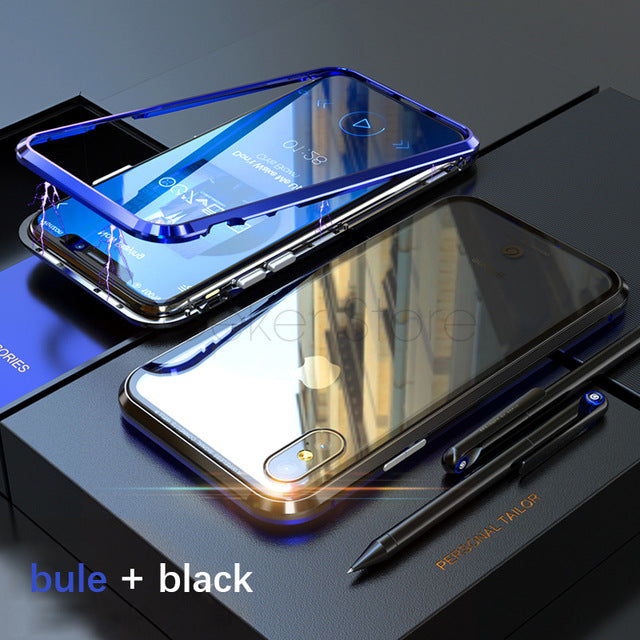 Luxury Metal Magnetic Adsorption Case for iPhone X/7/8 Plus(BUY 2PCS TO GET 15% OFF)