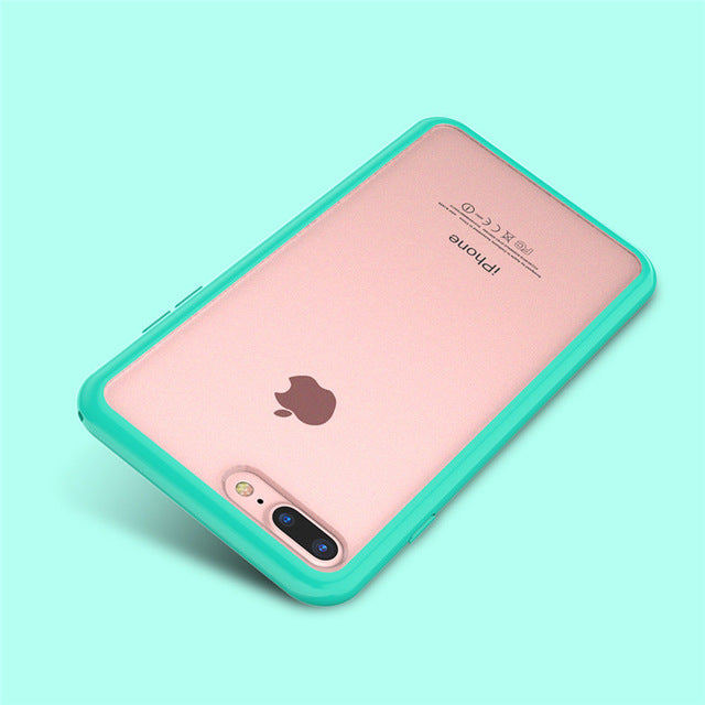 Candy Color Frame Phone Case For iPhone 7 For iPhone 6 6S 7 8 Plus