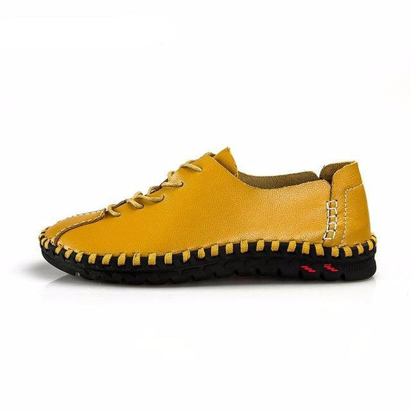 Manual Stitching Formal Casual Walking Flat Oxford Shoes