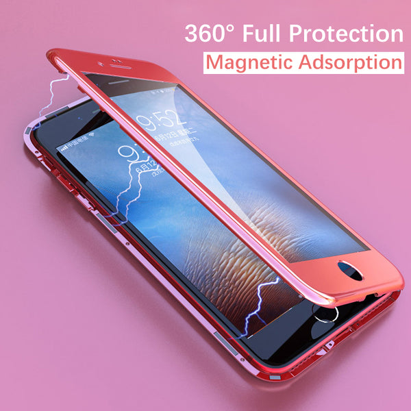 360 Degree Full Protection Magnetic Adsorption Case for iPhone X/7/8 Plus(BUY 2PCS TO GET 15% OFF)
