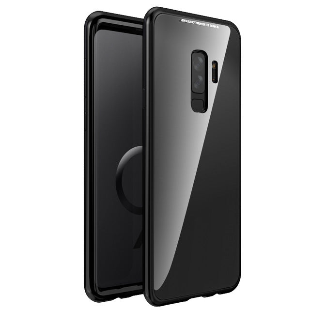 Magnetic Adsorption Flip Case for Samsung Galaxy S8 S9 Plus Note 8 S7 S7 Edge