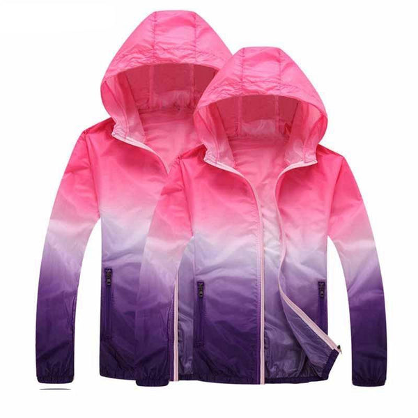 Print Running Jackets For Women Men Thin Skin Sports Jacket
