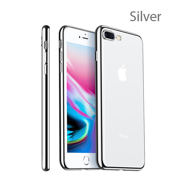 Luxury  Silicon Transparent TPU Cover for iphone 7 8
