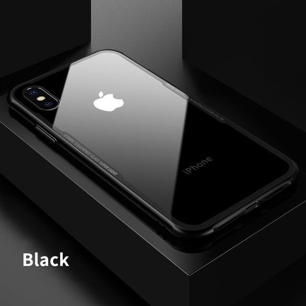 Luxury Tempered Glass Phone Case For iPhone 10 8Plus 7Plus