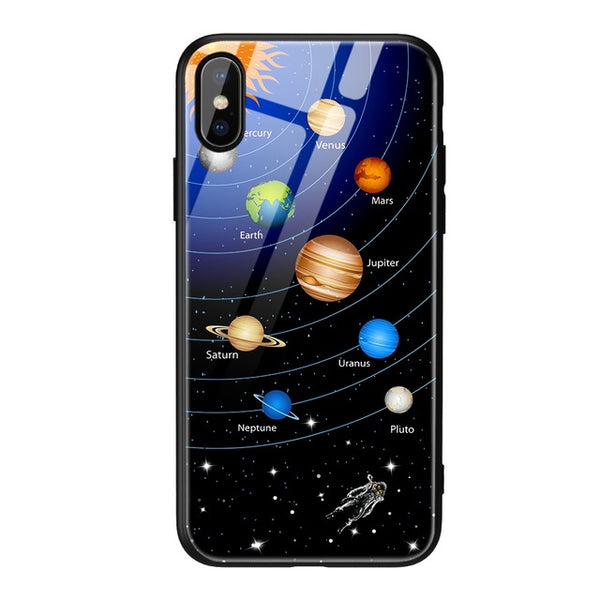 Luxury Starry Sky Tempered Glass Case For iPhone 7 8 Plus