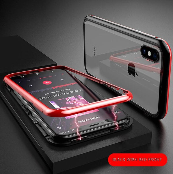 Built-in Magnet Fitted Tempered Glass  For iPhone 7 8 Plus