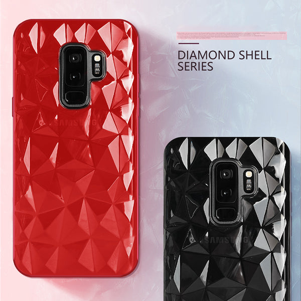 3D Diamond Luxury Ultra Thin Soft TPU Phone Case For Samsung Galaxy S9 S8 Plus
