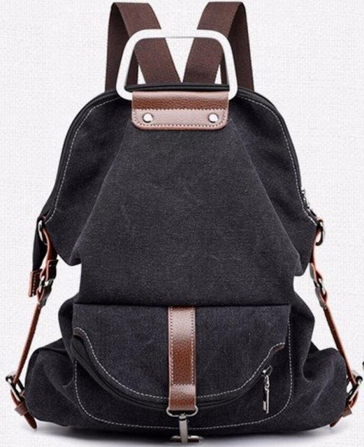 Large Capacity Casual Canvas School Shoulder Bags