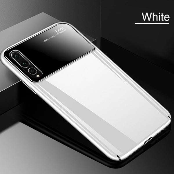 Luxury Tempered Glass + PC Back Bumper Case for Huawei P20 Lite Pro