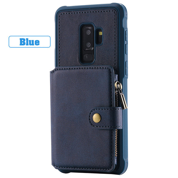 Luxury Leather Flip Wallet Case For Samsung S8/S9 Plus(BUY 2PCS TO GET 15% OFF)