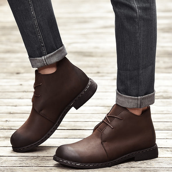 Plus size Men Fashion Leather Ankle Boots(BUY 2 TO GET 10% OFF)