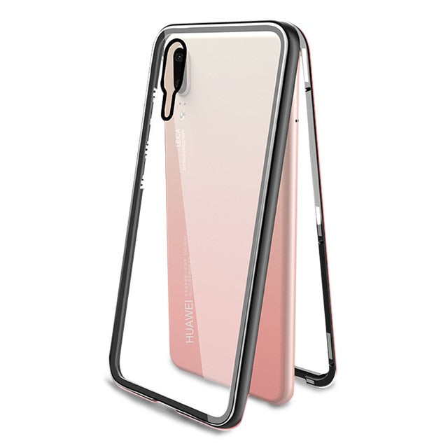 Magnetic Flip Phone Case with screen protector for HuaweiP20