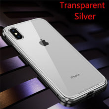 Load image into Gallery viewer, 360 plating Frame Hard Tempered Glass  Metal Bumper Case For Iphone 6 7 8 X