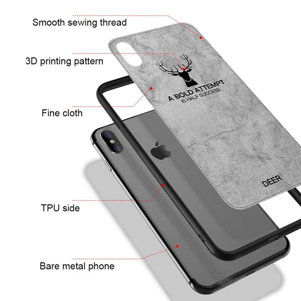 Luxury Christmas Deer Silicone Case for iPhone X/7/8 Plus(BUY 2 TO GET 15% OFF)