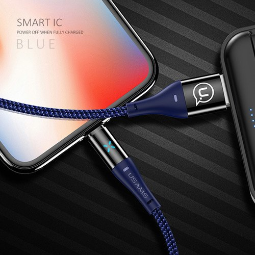 Smart Auto Power Off Sync Nylon Braid 2A Fast Charging USB Cable  for iPhone