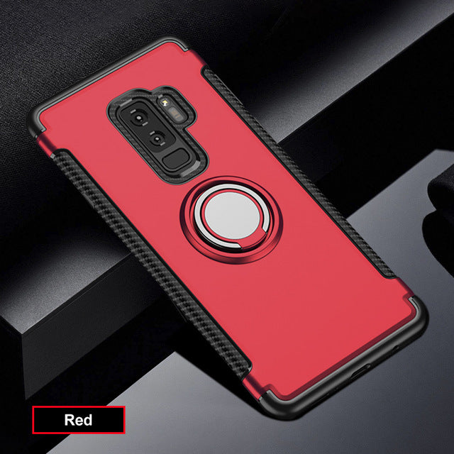 Luxury Shockproof Holder Stand Case For Samsung S8 /S9 Plus/S7 edge(BUY 2 TO GET 15% OFF)