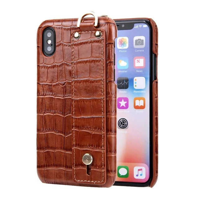 Luxury Crocodile Hand Strap Case for iPhone X/XS/7/8 Plus(BUY 2 TO GET 10% OFF)