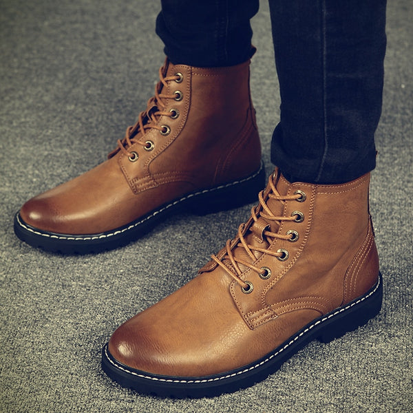 2018 Winter Men Genuine Leather Warm Mid-Calf Boots(BUY 2 TO GET 10% OFF)