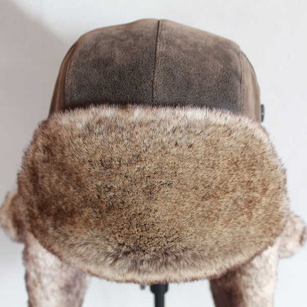 Winter Men Warm Leather Fur Bomber Hat(BUY 2 TO GET 10% OFF)