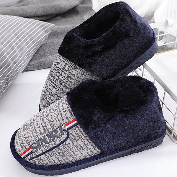 Plus Size Winter Men's Warm Soft Home Slippers(BUY 2 TO GET 10% OFF)