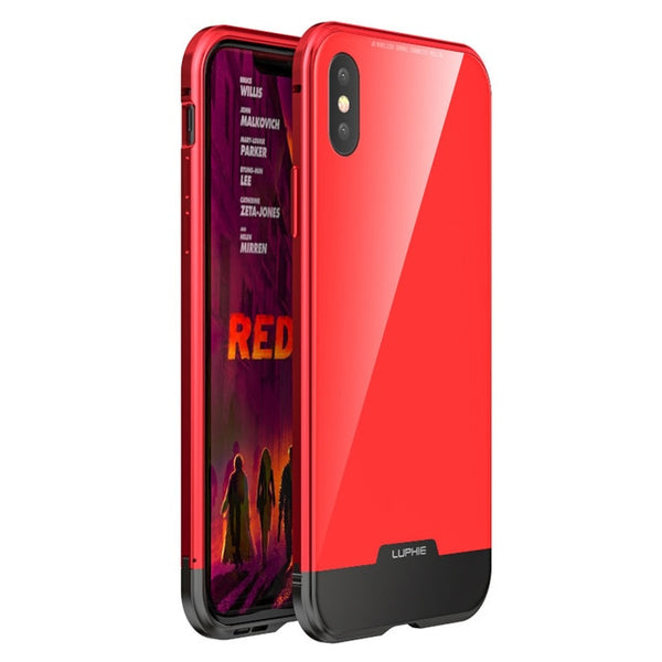 Magnetic Shockproof Metal Glass Case For iPhone X/XS/XS Max(BUY 2 TO GET 10% OFF)