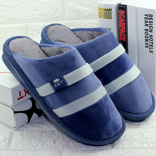 Plus Size Winter Men Plush Warm Indoor Slippers(BUY 2 TO GET 10% OFF)