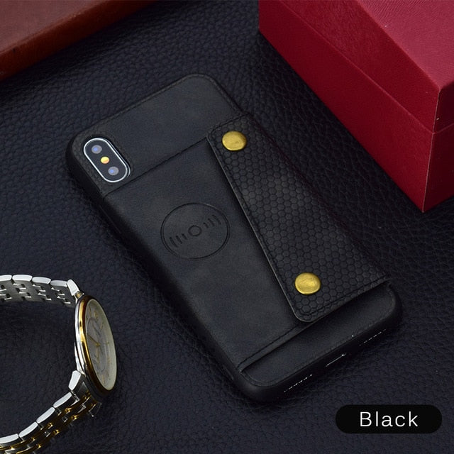 Wallet Leather Car Magnetic Case For iPhone X/7/8 Plus(BUY 2 TO GET 10% OFF)