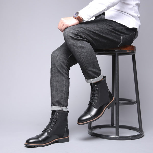 Plus Size Winter Pointed Toe Men Chelsea Boots(BUY 2 TO GET 10% OFF)