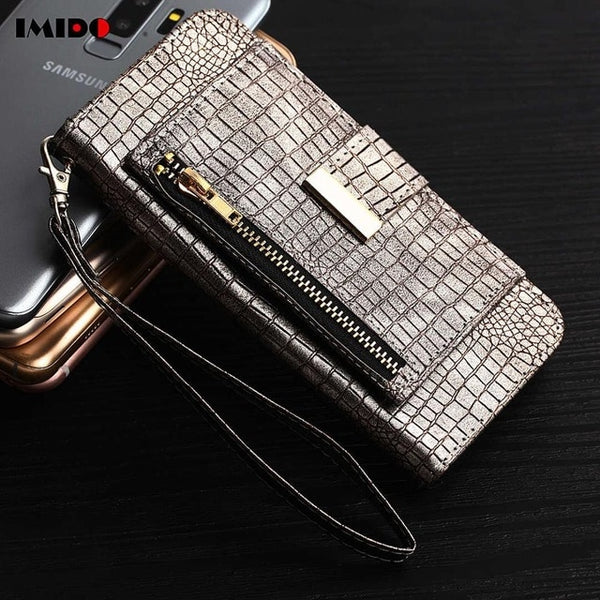 Luxury Crocodile Wallet Leather Case For Samsung Note8/S8/S9 Plus(BUY 2 TO GET 10% OFF)