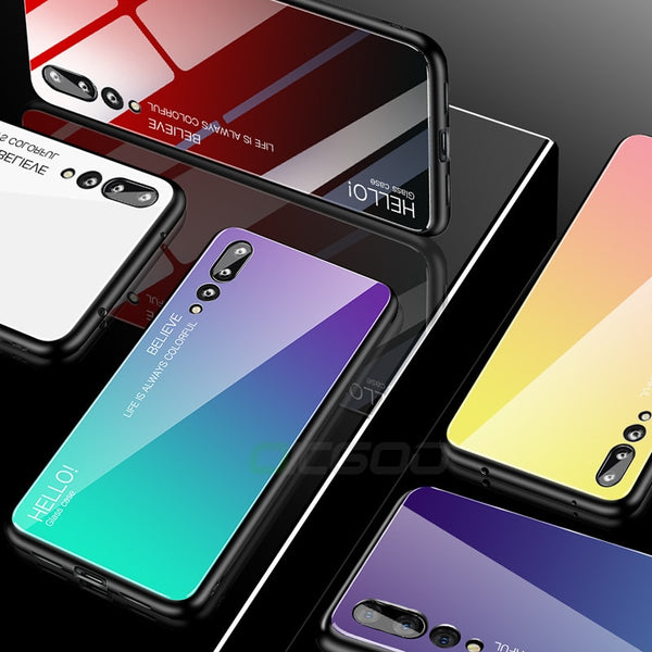 Luxury Tempered Glass Case For Huawei P20/Mate 20/10 Lite(BUY 2 TO GET 10% OFF)