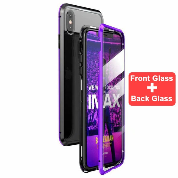 Luxury Double Sided Metal Magnetic Case for iPhone X/XR/XS Max(BUY 2PCS TO GET 10% OFF)