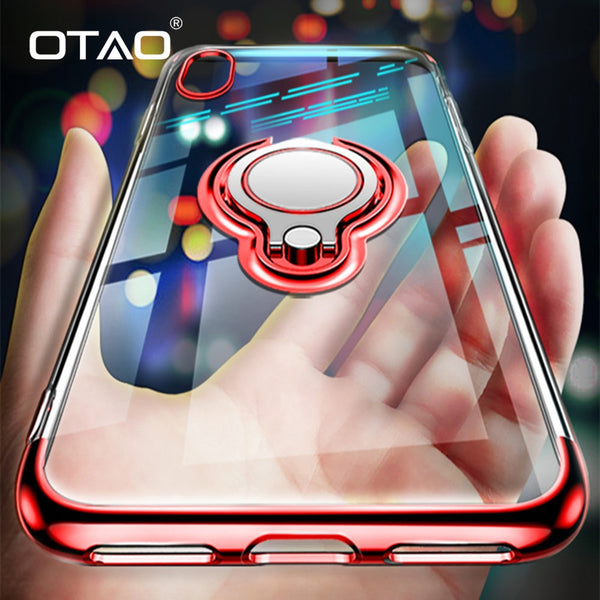 Ultra Thin Transparent Ring Holder Case For iPhone XS MAX/XR/X(BUY 2 TO GET 10% OFF)
